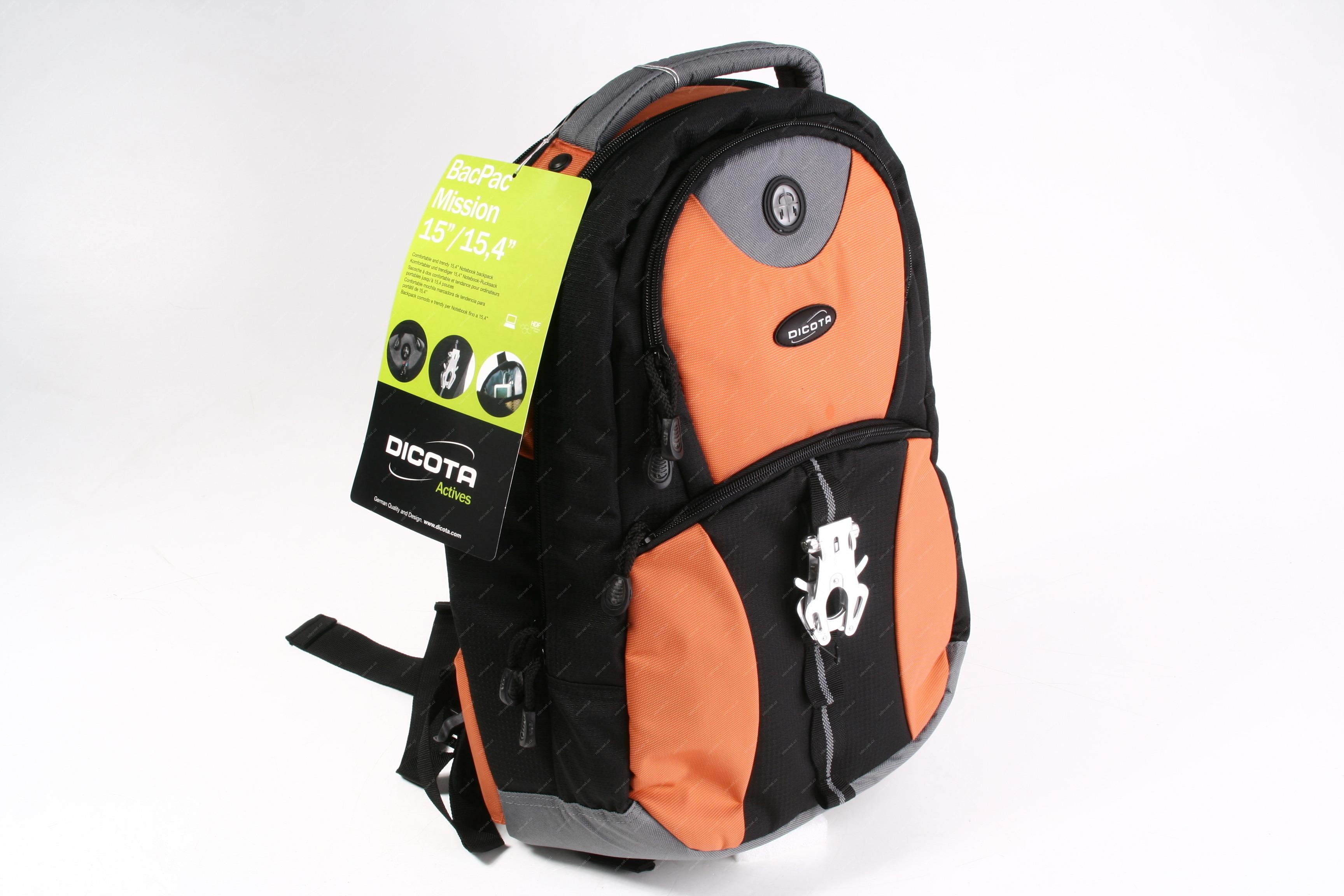 Dicota BacPac Mission   pohodlný batoh pro notebooky 15 095f163f2d