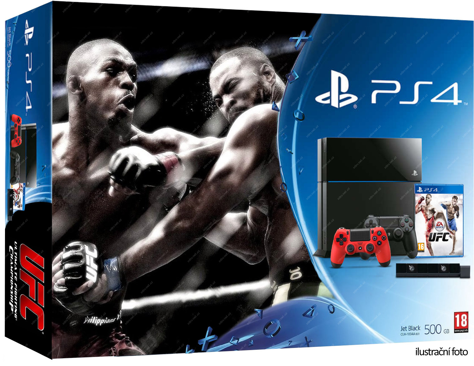 Sony Playstation 4 500gb Ufc Ultimate Fighting Championship Ps4 Kamera 54298934 Camera