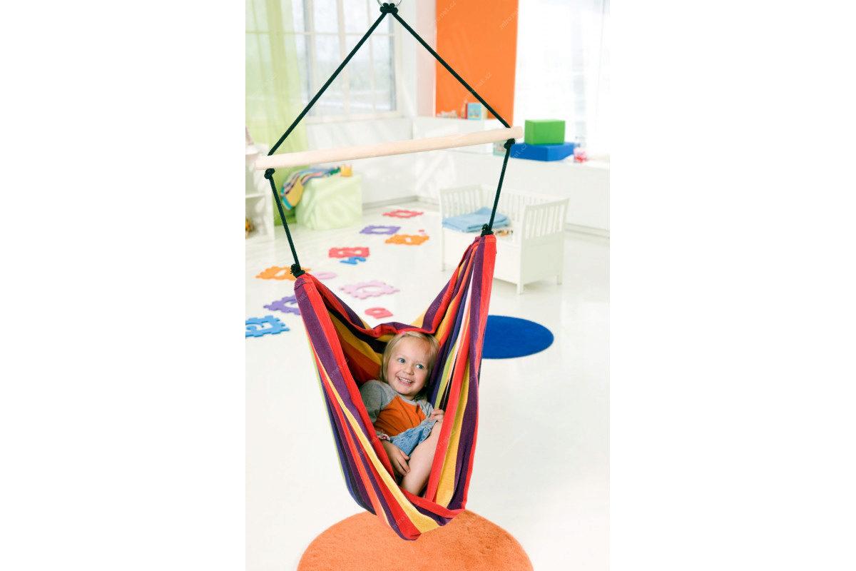 Amazonas Kid's relax rainbow / Závěsné křeslo / 155x120 cm / Nosn |  Mironet.cz