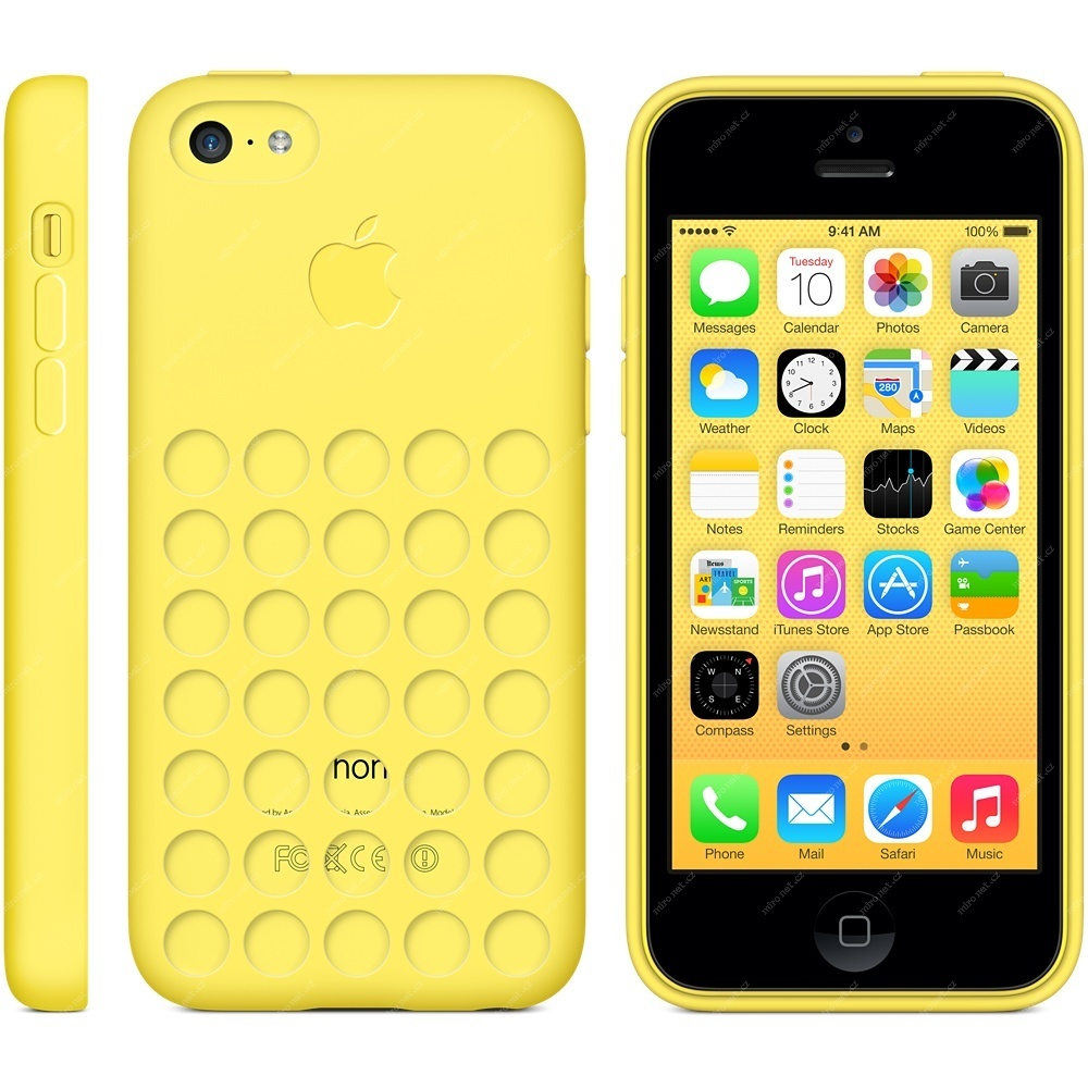Apple iPhone 5C zadní kryt   case   silikon   žlutá  5baac237a60