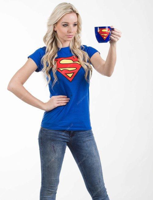 2ef5ef3f9731 Tričko s logem Superman dámské S   Dámské   100% bavlna   modrý ...