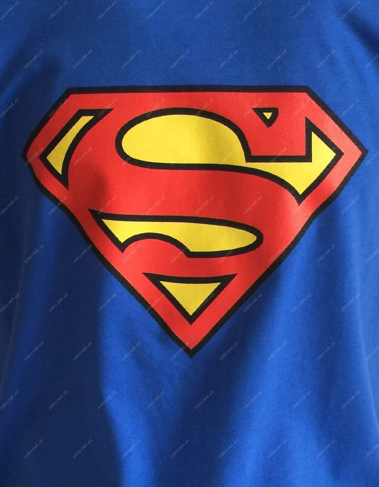 0c73a04b2674 Tričko s logem Superman pánské L   Pánské   100% bavlna   modrý ...