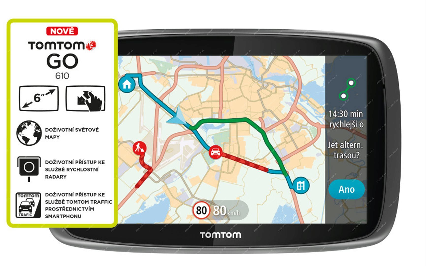 Tomtom Go 610 World Traffic Lifetime Mapy 6 Displej Mironet Cz