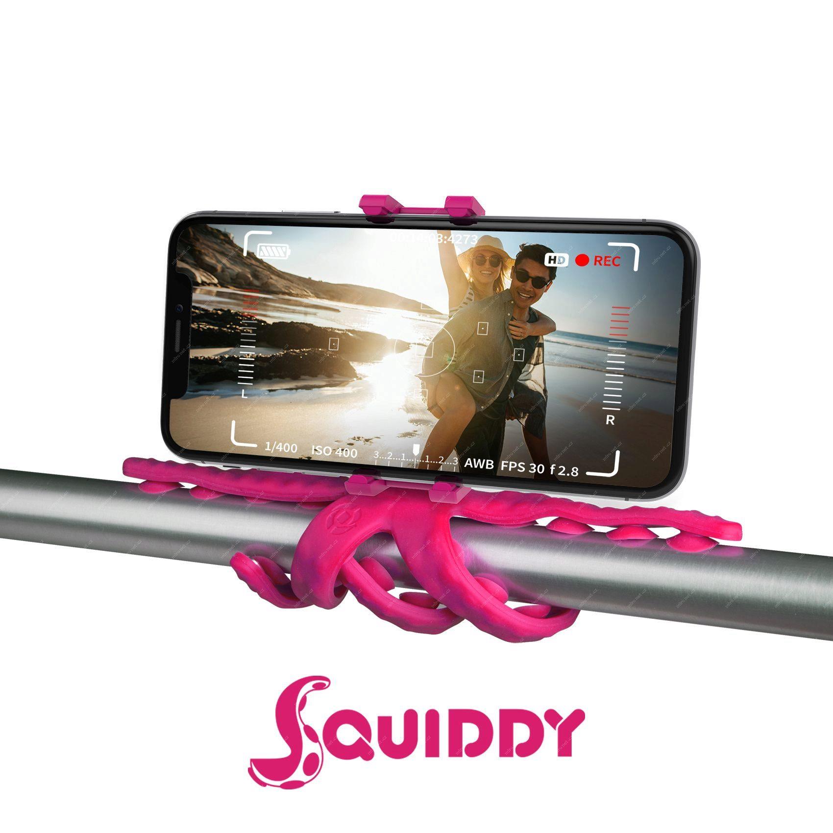 69379303 - CELLY Squiddy Flexibilní držák s přísavkami pro telefony do 6.2