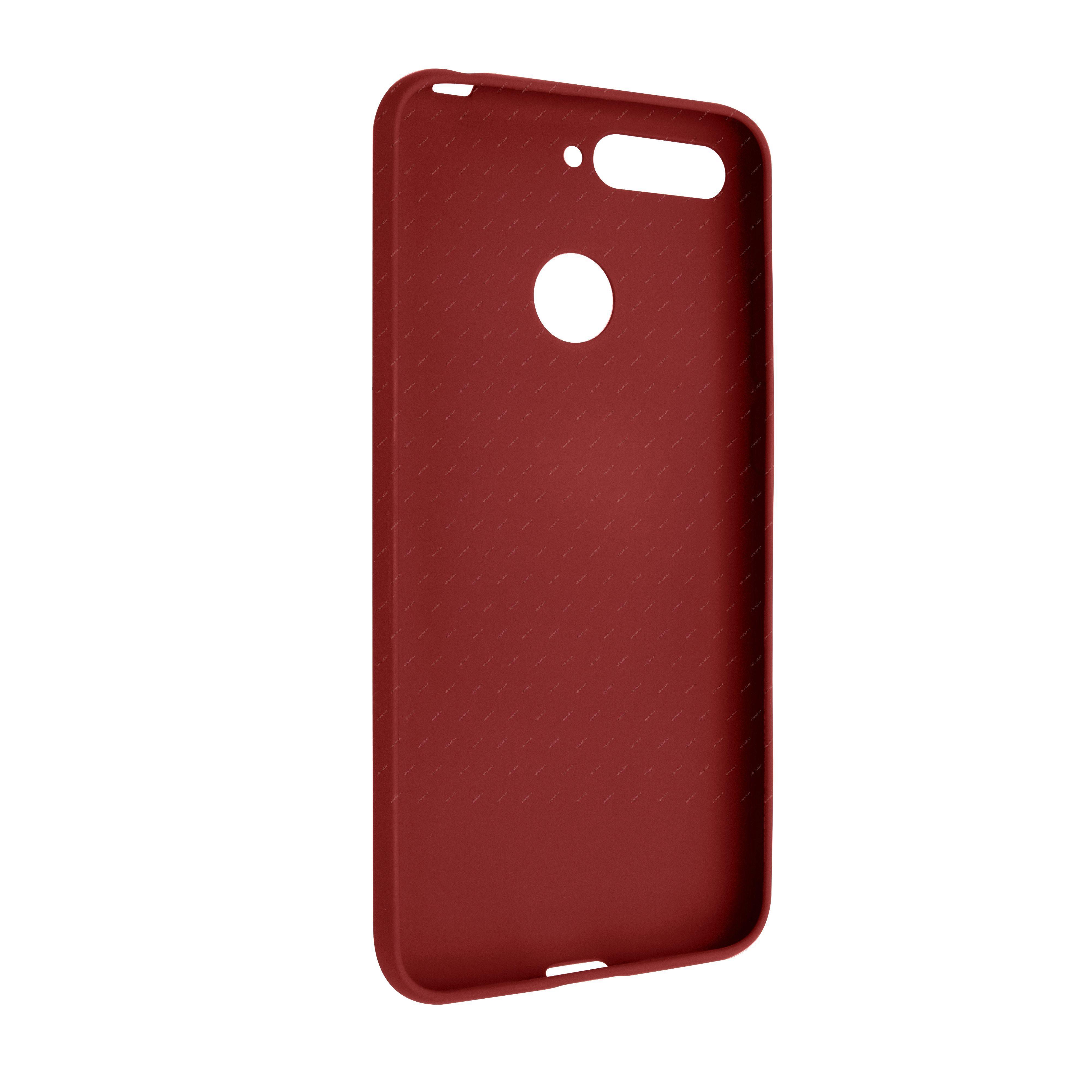 69415949 - FIXED Story Zadní silikonový kryt pro Huawei Y6 Prime (2018)  červená acfe5da007f