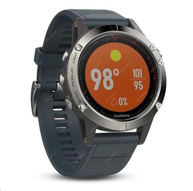 Chytré hodinky Garmin Fenix5 Silver Optic modrá   GPS chytré hodi ... b92302ff3b9