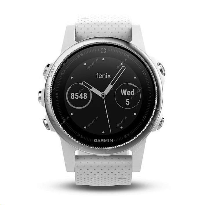 Chytré hodinky Garmin Fenix5S Silver Optic bílá   GPS chytré hodi ... 4d01bbeb7cc