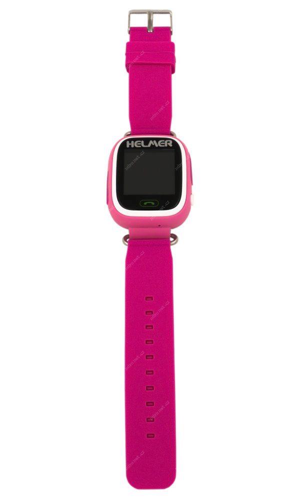 55320e40d HELMER LK 703 růžová / dětské hodinky s GPS lokátorem / dotykový ...