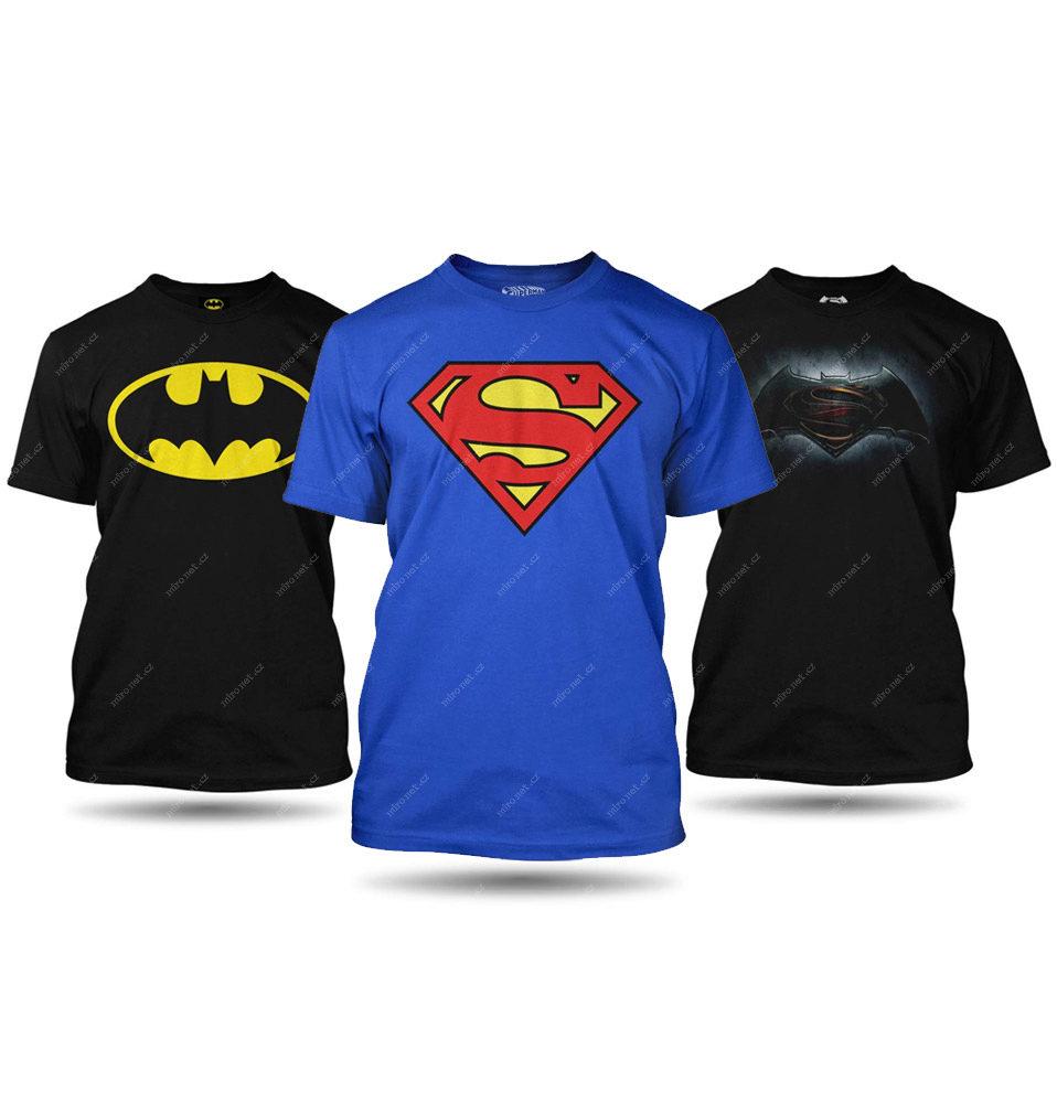 SUPER Bundle Batman vs. Superman pánské L - 3x tričko   Pánské ... 9f957ddce06
