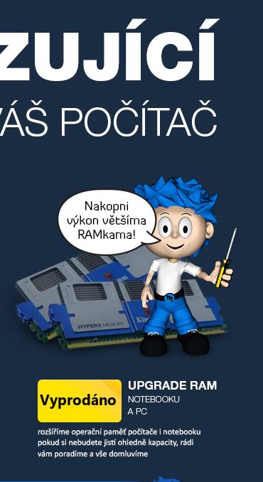 upgrade operační paměti RAM notebooku