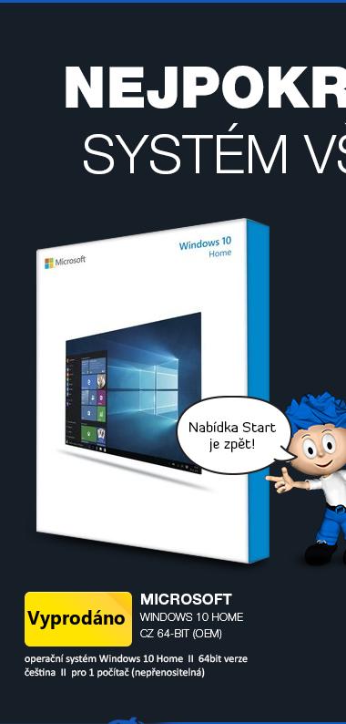 Microsoft Windows 10 Home CZ 64-bit