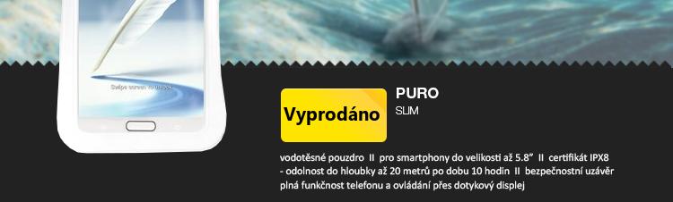 Puro pouzdro vodotěsné SLIM pro smartphony