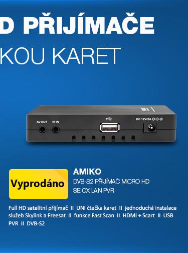AMIKO DVB-S2 přijímač Micro HD SE CX LAN PVR