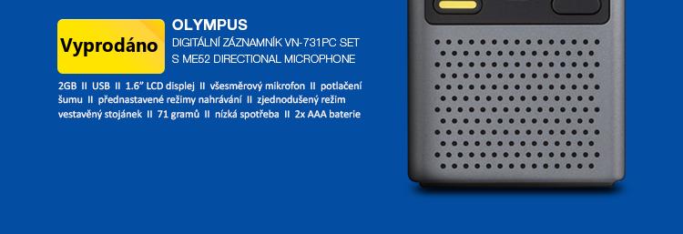 Olympus Digitální záznamník VN-731PC