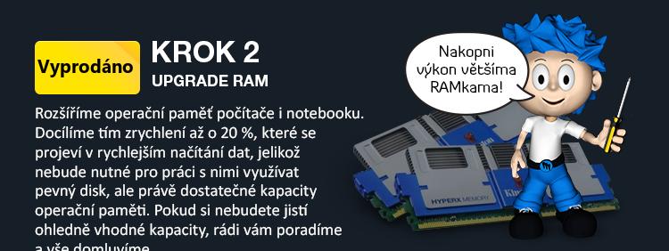 upgrade operační paměti RAM notebooku a PC
