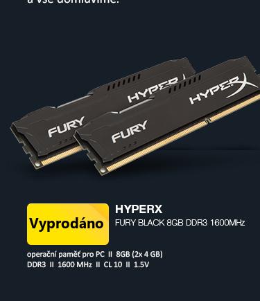 HyperX Fury Black 8GB DDR3 1600MHz