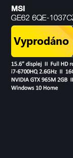 Výprodej starších modelů s GeForce GTX900