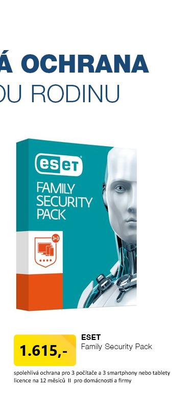 ESET Family Security Pack , 3 počítače 1 rok