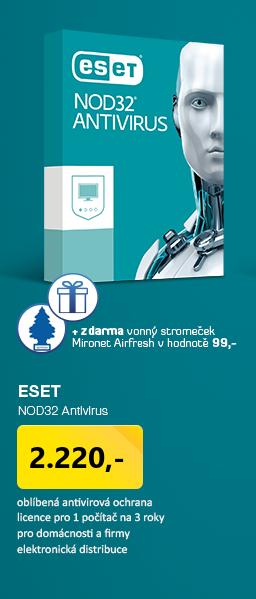 AKCE 3za2 ESET NOD32 Antivirus 10