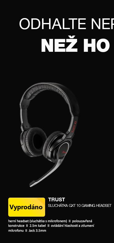 TRUST - Sluchátka GXT10 GAMING headset