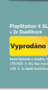 SONY PlayStation 4 - 1TB Slim Black CUH-2016B + druhý Dualshock 4