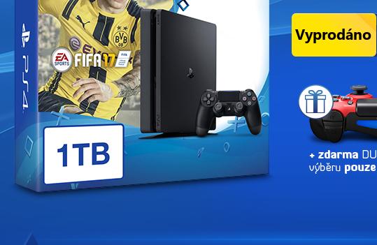 SONY PlayStation 4 - 1TB slim Black CUH-2016B + FIFA 2017