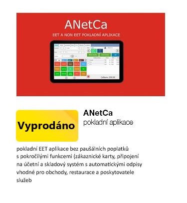Licence pokladní aplikace ANetCa