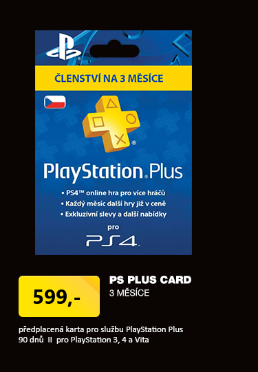 Sony Playstation Plus Card - 90 dní