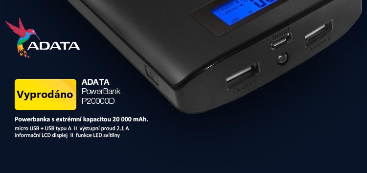 ADATA PowerBank P20000D 20000mAh černá