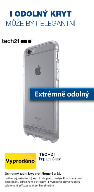 Tech21 Impact Clear zadní ochranný kryt pro Apple iPhone 6 a 6S