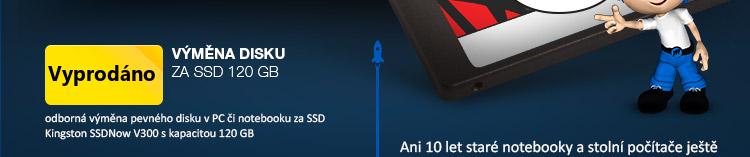 upgrade notebooku SSD 120GB