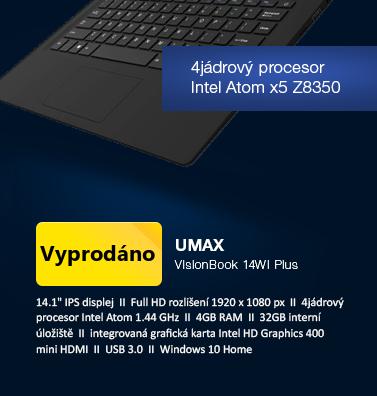 UMAX VisionBook 14Wi Plus černá