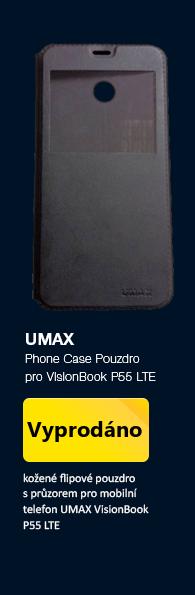 UMAX Phone Case Pouzdro typu kniha pro UMAX VisonBook P55 LTE černá