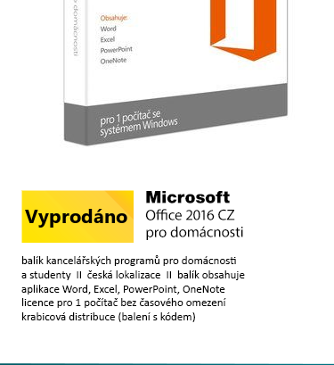 MS Office 2016 pro domácnosti a studenty CZ