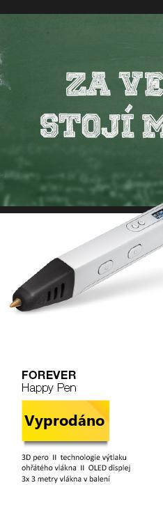 FOREVER Happy Pen 3D pero bílá