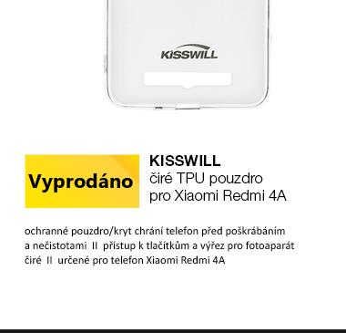 Kisswill TPU Pouzdro pro Xiaomi Redmi 4A čirá