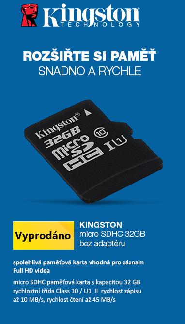 Kingston microSDHC 32GB bez adaptéru