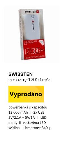SWISSTEN Recovery 12000 mAh bílá