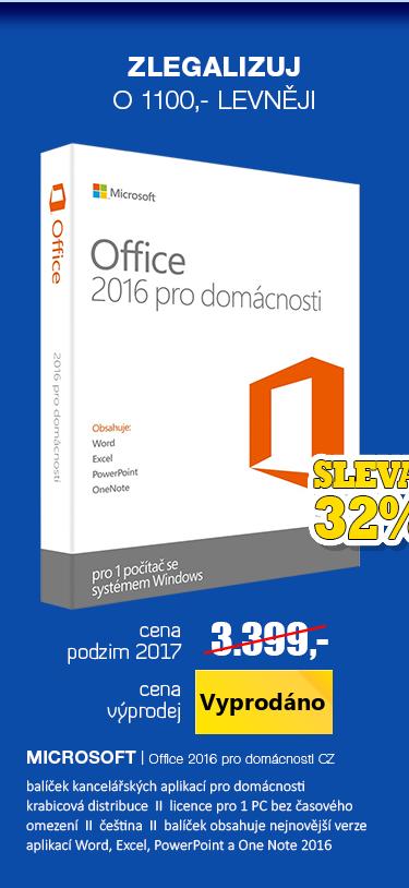 Microsoft Office 2016 pro domácnost