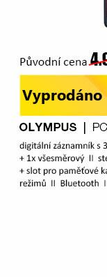 Olympus lineární PCM záznamník LS-P2 červená