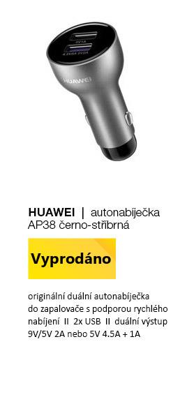 HUAWEI Autonabíječka AP38 černo-stříbrná 4,5A