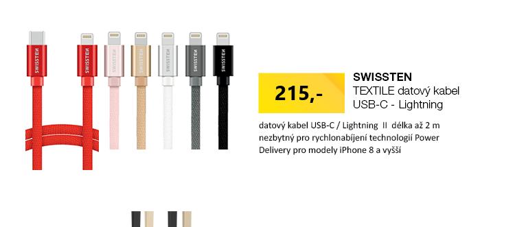 SWISSTEN TEXTILE datový kabel USB