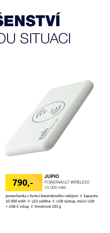 JUPIO PowerVault Wireless 10.000 mAh