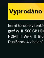 SONY PlayStation 4 - 500GB Slim Black, white CUH-2116A