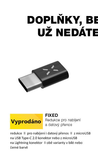 Fixed redukce z micro USB na Lightning nebo USB-C