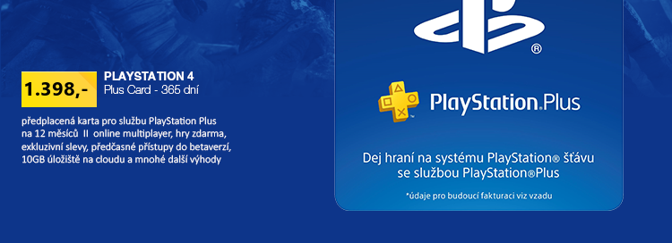 Sony Playstation Plus Card - 365 dní