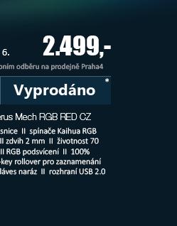 ASUS Cerberus Mech RGB RED CZ herní klávesnice černá