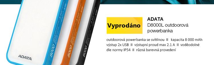 ADATA D8000L outdoorová powerbanka se svítilnou