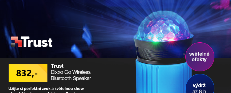 Trust Dixxo Go Wireless Bluetooth Speaker s party světly