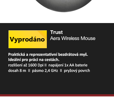 Trust Aera Wireless Mouse šedá